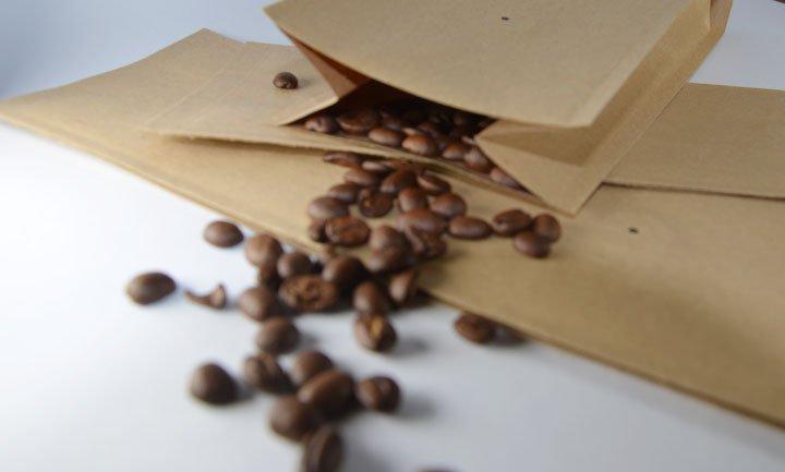 Kaffeeverpackung, Kaffeebeutel mit Ventil