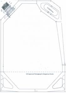 technische Zeichnung Standbodenbeutel